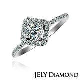 【JELY】華貴0.30克拉H&A八心八箭美鑽戒指