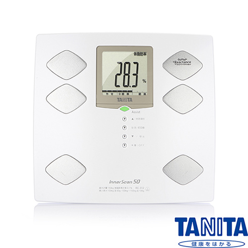日本TANITA 九合一體組成計嬰兒寵物功能BC312 (日本製)-珍珠白