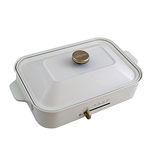 綠恩家enegreen日式多功能烹調電烤盤(珍珠白)KHP-770T