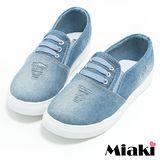 【Miaki】帆布鞋韓式簡約平底休閒懶人鞋 (淺色)