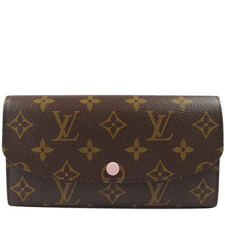 Louis Vuitton LV M61289 EMILIE 新款經典花紋扣式零錢長夾_現貨