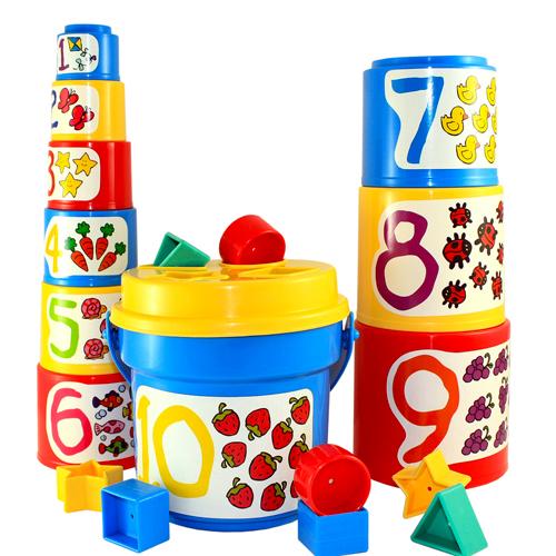 ~美國 B.toys 感統玩具~大口疊疊杯 sort and stack