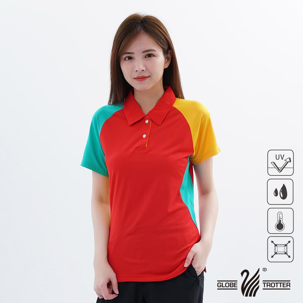 【遊遍天下】MIT台灣製女款抗UV涼爽吸濕排汗機能POLO衫S118紅色