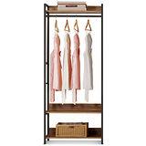 MY傢俬 現代工業風開放式2.6尺單吊系統衣櫃