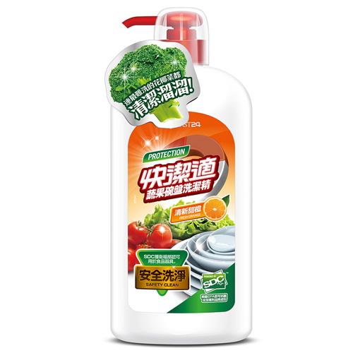 【快潔適】蔬果碗盤洗潔精-清新甜橙 1000g