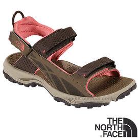【美國 The North Face】女新款 STORM SANDAL 抓地耐用耐磨戶外運動涼鞋.休閒涼鞋.拖鞋.海灘鞋/HydroTRAK橡膠外底/CCG1 小熊棕/狂歡紅 V