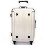 MOM 日本品牌 - 24吋-第二代旗艦正式版 PC鋁框行李箱(RU-3008-24-白)