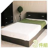 「全面升級半封床底」3.5尺單人床組 床架 床組 床底組 (床頭箱+床底+床頭櫃)3件組 新竹以北免運費【YUDA】