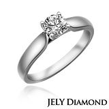 【JELY】魅力0.30克拉H&A八心八箭美鑽戒指
