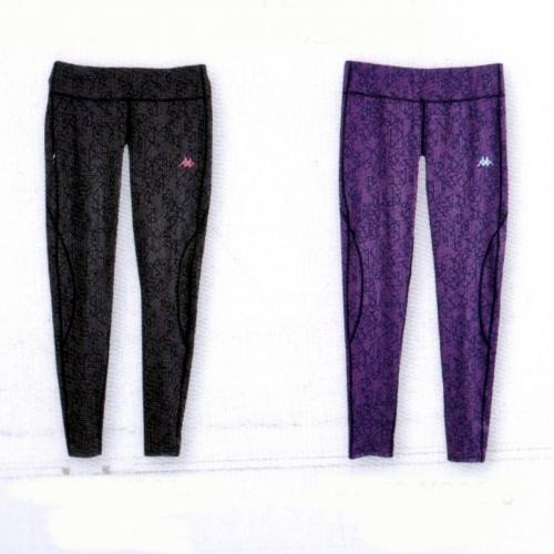 Kappa LADIE'S 針織九分慢跑緊身褲(合身尺寸) FD56-Y006