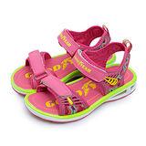 【中童】GOOD YEAR 氣墊運動涼鞋 絢麗繽紛系列 粉螢綠 58013