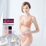 【Olivia】3D無鋼圈集中無痕珠光杯內衣褲套組(膚色)-B杯
