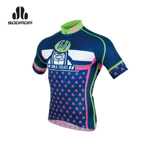 (男) SOOMOM 瑪爾斯短車衣-單車 自行車 速盟 丈青白綠