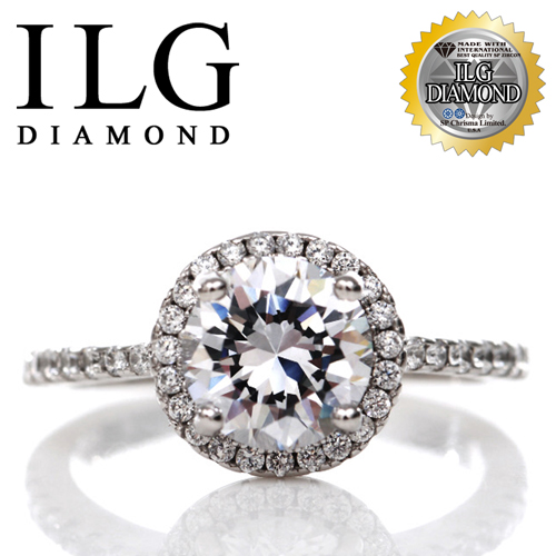 【ILG鑽】頂級八心八箭擬真鑽石戒指-主鑽1.25克拉-法國巴黎名款 RI096 求婚款小資女