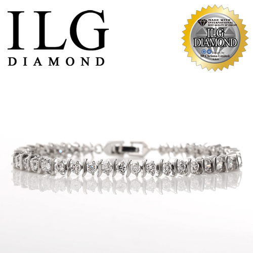 【ILG鑽】頂級八心八箭擬真鑽石手鍊-鑽約10分-流轉愛情款 BR050紀念日送禮生日禮物
