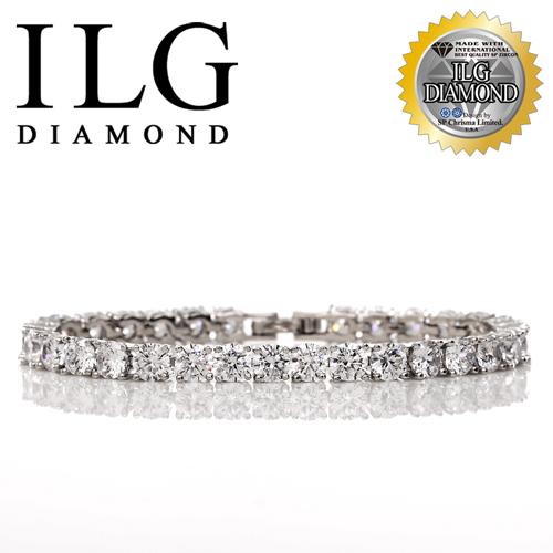 【ILG鑽】頂級八心八箭擬真鑽石手鍊-鑽約50分-真心情意款 BR049驚喜禮物告白