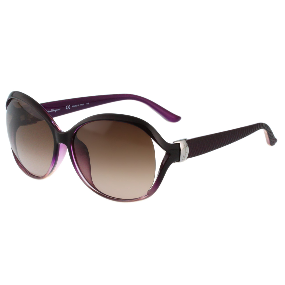 Salvatore Ferragamo- 時尚太陽眼鏡(紫色)