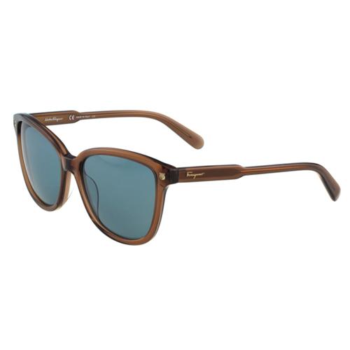 Salvatore Ferragamo- 時尚太陽眼鏡(茶色)