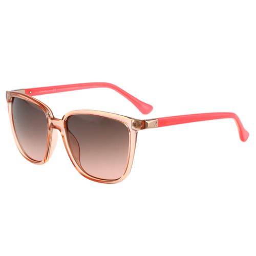 Calvin Klein- 時尚太陽眼鏡(透明粉橘)
