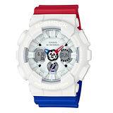 G-SHOCK 紅藍白Tricolor Series配色運動腕錶/GA-120TRM-7A/防水/防撞
