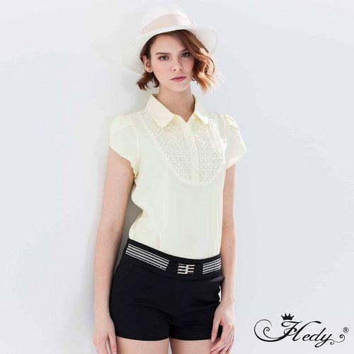 【Hedy赫蒂】縫鑽腰飾口袋短褲(黑色)