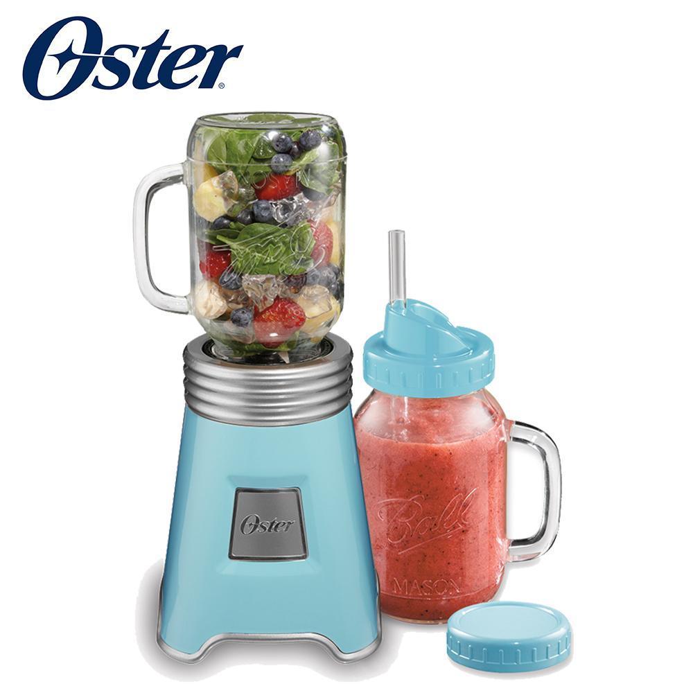 美國OSTER-Ball Mason Jar隨鮮瓶果汁機(藍)BLSTMM-BBL 送隨鮮瓶牛仔杯套