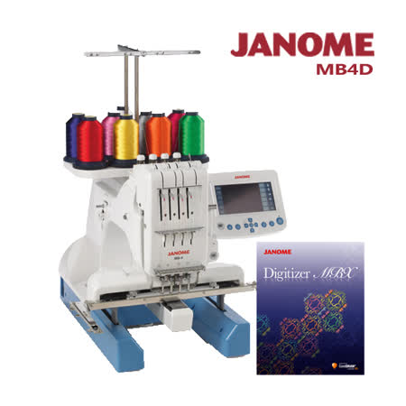 JANOME MB-4職業用刺繡機 送刺繡軟體MBX
