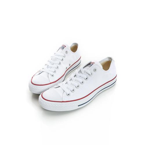 Converse 女鞋基本款-低筒白帆布休閒鞋 白-M7652C
