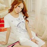 Wonderland ST294俏麗公主系居家衣褲組(白)
