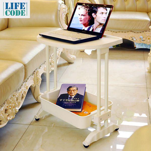 LIFECODE《悠活》二層可移動茶水桌/ 筆電桌