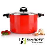 【比利時BergHOFF焙高福】ECLIPSE紅雙耳湯鍋24CM(6.6L)