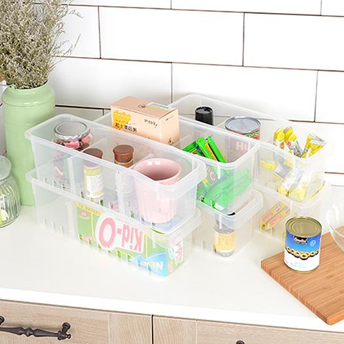 【nicegoods】巧盈瓶罐冰箱收納盒-附隔板 (6入組)