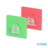 (任選)【歐奇納 OHKINA】隨手貼系列 多用途方形馬卡龍文件夾重複貼掛勾(6.8x6.8cm)-2入裝