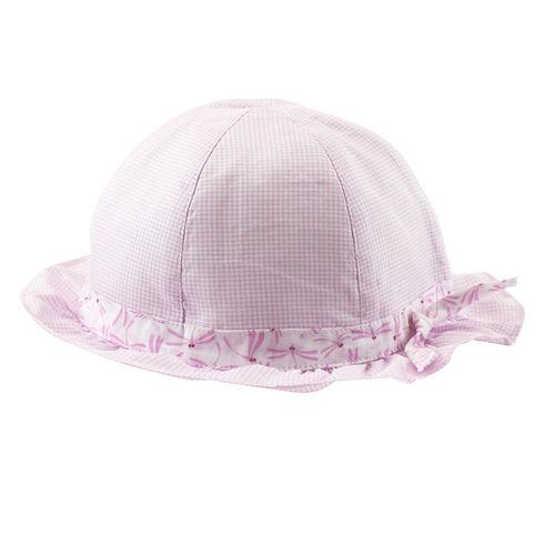 【愛的世界】LOVEWORLD 蜻蜓格紋遮陽帽/寶寶帽/兒童帽/圓帽/3~6歲-台灣製-