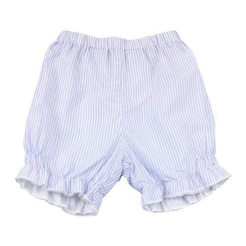 【愛的世界】LOVEWORLD 鳶尾花系列直條紋純棉短褲/1~3歲-台灣製-