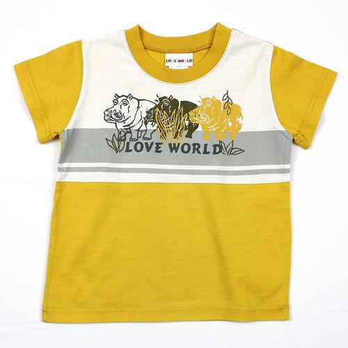 【愛的世界】LOVEWORLD 河馬系列純棉圓領短袖T恤/3~4歲-台灣製-