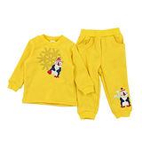 【愛的世界】MY BEAR 企鵝競技場系列保暖刷毛彈性套裝/1~4歲