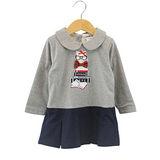 【愛的世界】pappa&ciccia 時尚名媛系列純棉長袖拉鍊洋裝/2~4歲-台灣製-