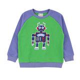 【愛的世界】SUPERKIDS 機器人系列純棉厚感圓領T恤/S-台灣製-