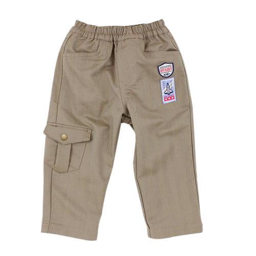 【愛的世界】MYBABY 太空人系列鬆緊帶休閒褲/6~12歲-中國製-