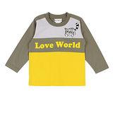 【愛的世界】LOVEWORLD 小浣熊系列純棉圓領長袖上衣/6~10歲-台灣製-
