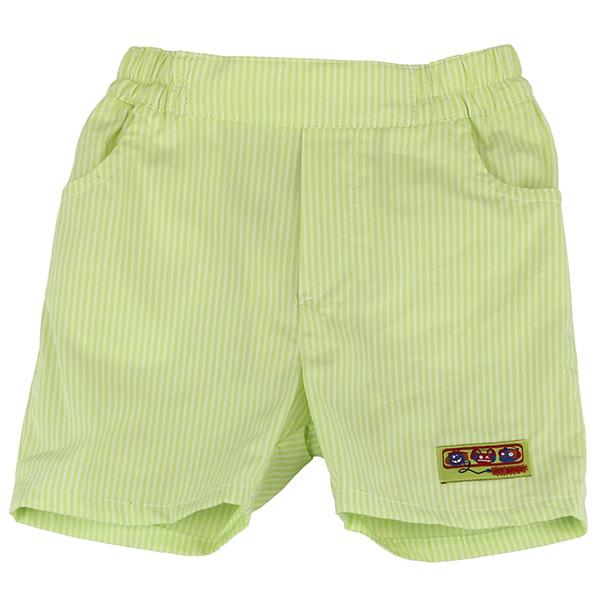 【愛的世界】MYBABY 賽艇系列純棉直條紋五分褲/6~12歲-台灣製-