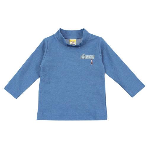 【愛的世界】MYBABY 小熊兄弟系列系牛仔藍立領上衣/4~8歲-台灣製-