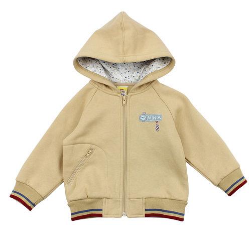 【愛的世界】MYBABY 小熊兄弟系列磨毛連帽外套/4~6歲-台灣製-