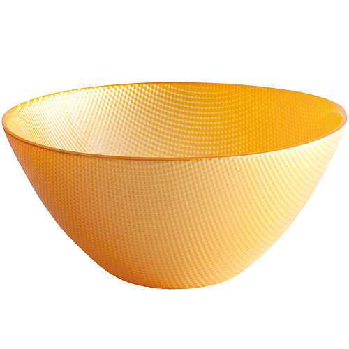 《EXCELSA》Diamond菱紋玻璃碗 黃15cm