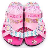 童鞋城堡-Barbie芭比 中童 軟木風格拖鞋BR2433-粉