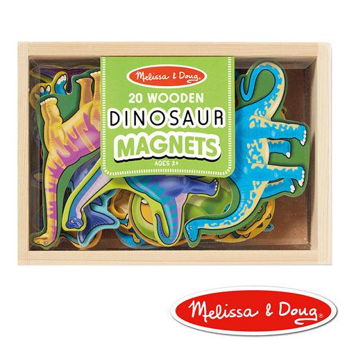美國瑪莉莎 Melissa & Doug 益智遊戲 - 恐龍造型木質磁鐵貼
