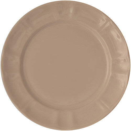 《EXCELSA》Chic陶製淺餐盤 淺棕22cm