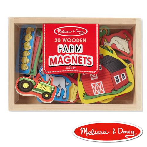 美國瑪莉莎 Melissa & Doug 益智遊戲 - 農場動物木質磁鐵貼
