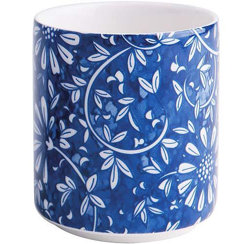 《EXCELSA》Oriented瓷茶杯 花卉藍100ml